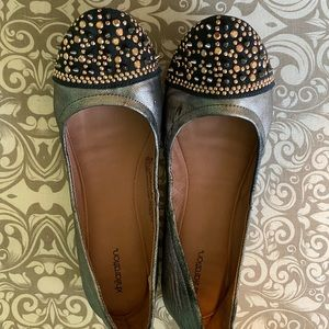 Rose Gold Spiked Flats